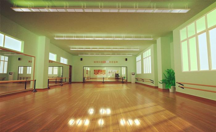 舞蹈专用教室有着良好的隔音效果